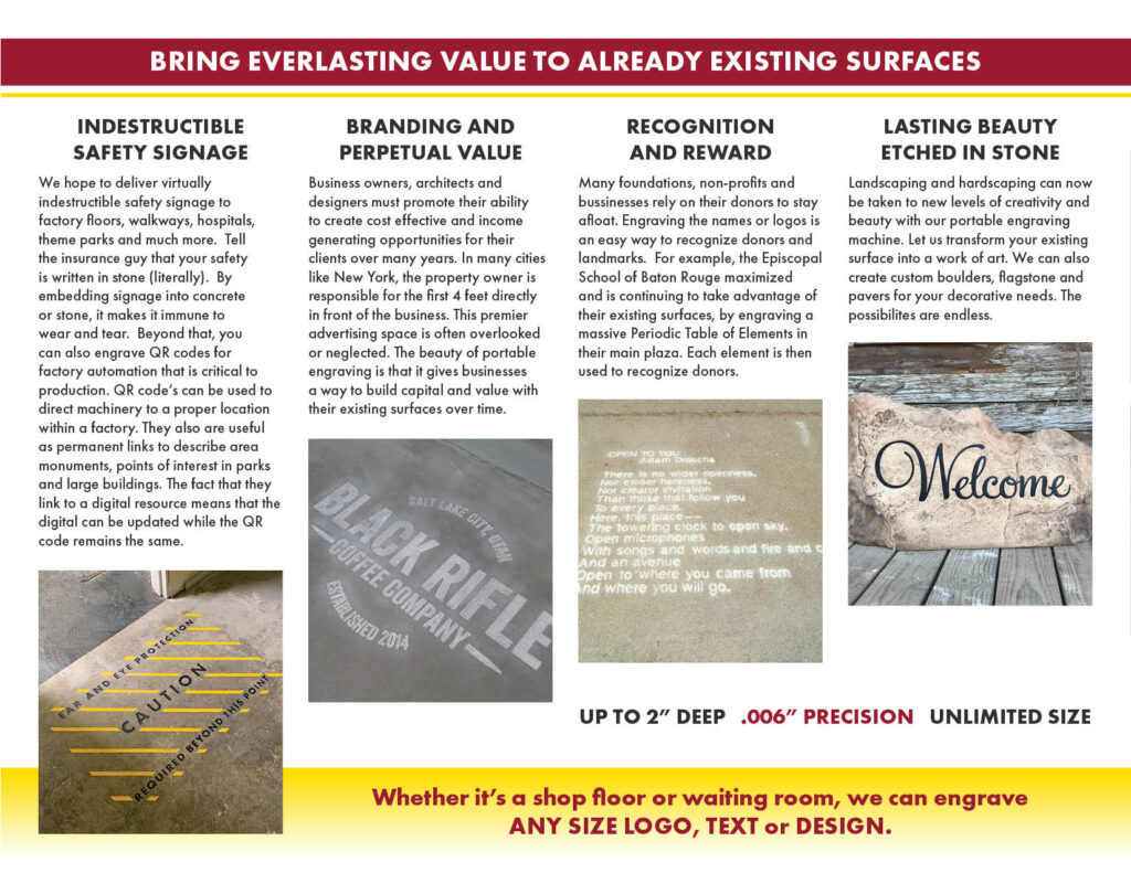 About Concrete Engraving