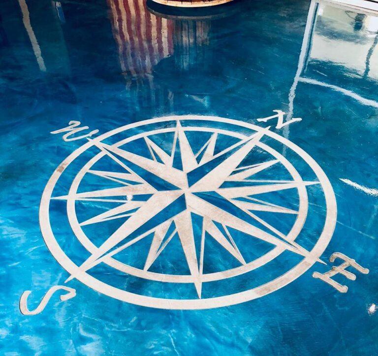 Concrete Engraving Compass